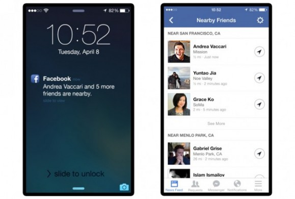 Nearby friends : un service Facebook pour localiser ses amis
