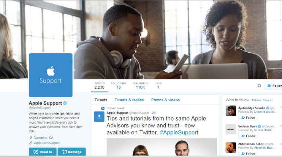 apple lance son support officiel sur twitter gridam. Black Bedroom Furniture Sets. Home Design Ideas