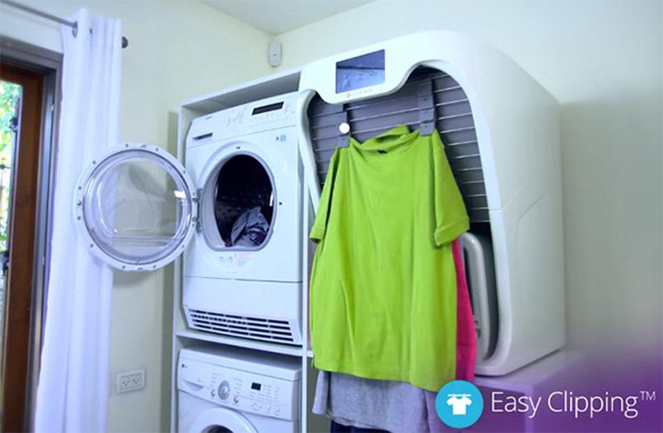 Foldimate une machine qui d froisse et plie le linge gridam - Dimension d une machine a laver a hublot ...