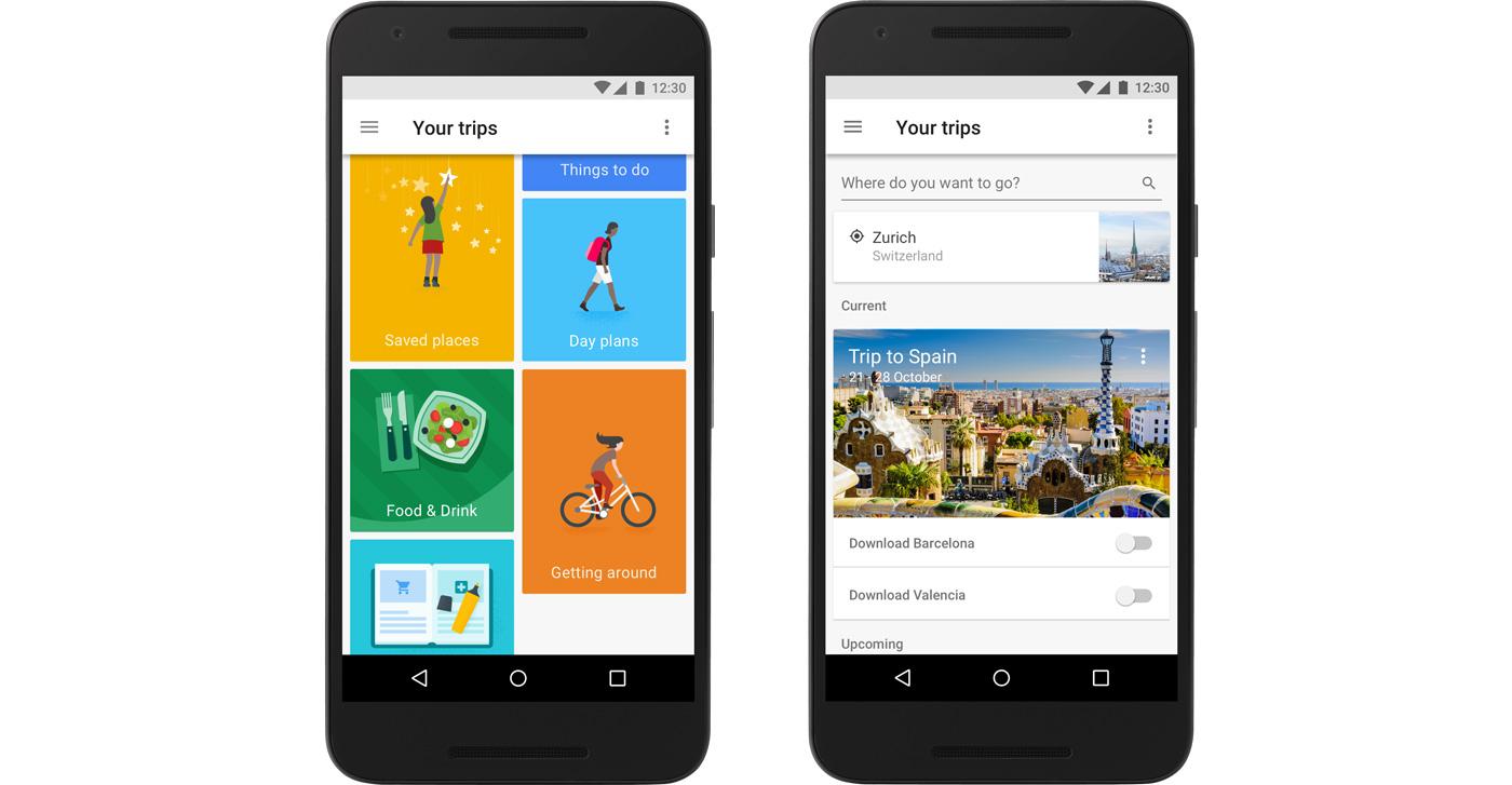 google lance un planificateur de voyage sur mesure google trips gridam. Black Bedroom Furniture Sets. Home Design Ideas