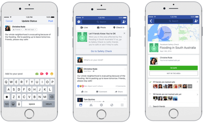 Les internautes pourront maintenant activer Safety Check — Facebook