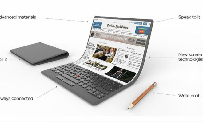 Lenovo imagine un ordinateur portable flexible