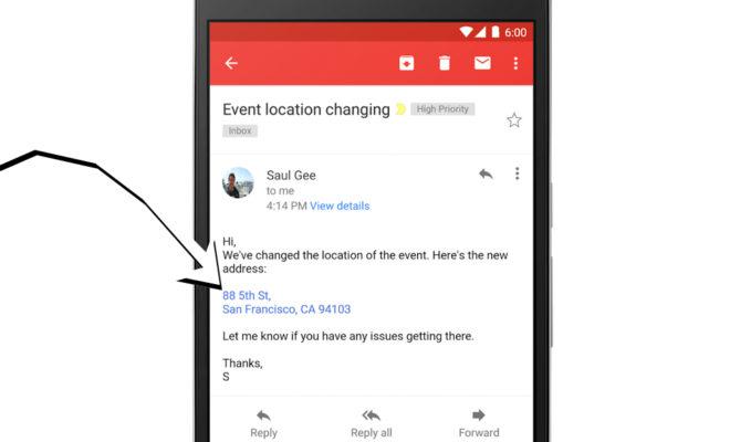 Les numéros de téléphone et adresses enfin cliquables dans les messages — Gmail