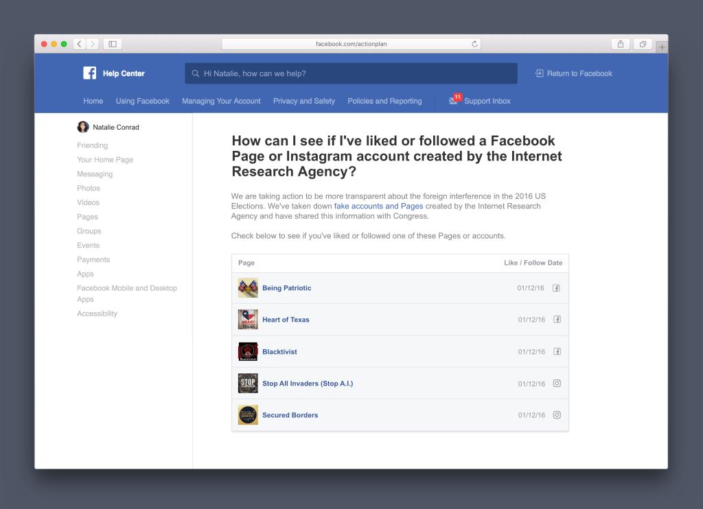 Un outil pour lutter contre les trolls venus de Russie — Facebook