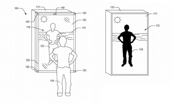 amazon d pose un brevet pour un miroir qui vous habille dans des v tements virtuels gridam. Black Bedroom Furniture Sets. Home Design Ideas