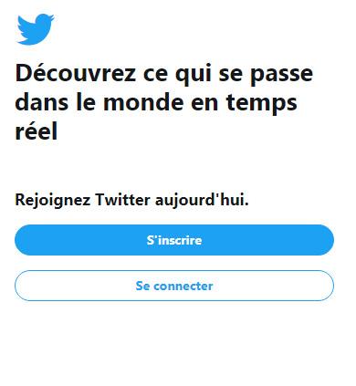 connexion compte Twitter