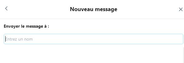 envoyer un DM sur Twitter