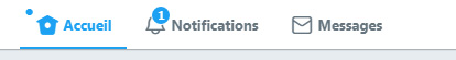 bouton messages Twitter