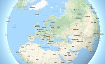 Google Maps 3D Globe
