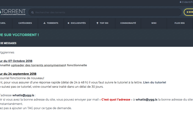 YggTorrent, l'héritier de T411, continue de grandir