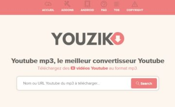 Youzik, votre convertisseur Youtube
