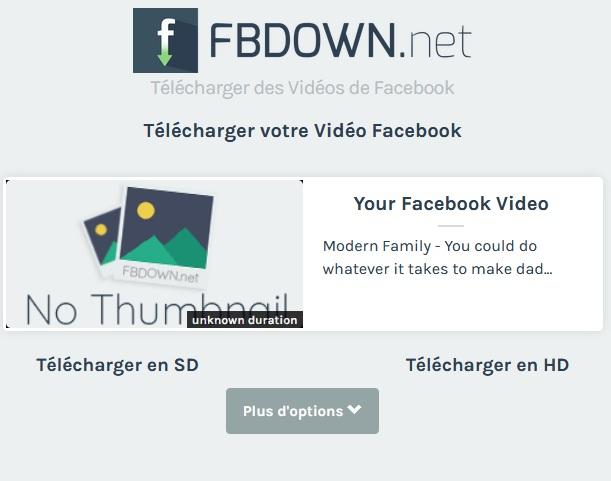 télécharger une vidéo de Facebook