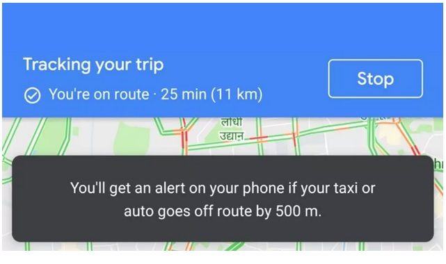 google maps taxi
