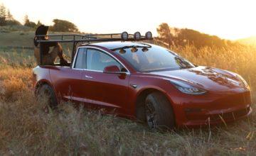 Elle convertit sa nouvelle Tesla Model 3 en pickup