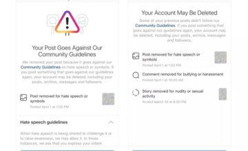 Instagram va avertir les utilisateurs proches d'une suppression de compte