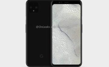 Le Google Pixel 4 XL se dévoile via des rendus