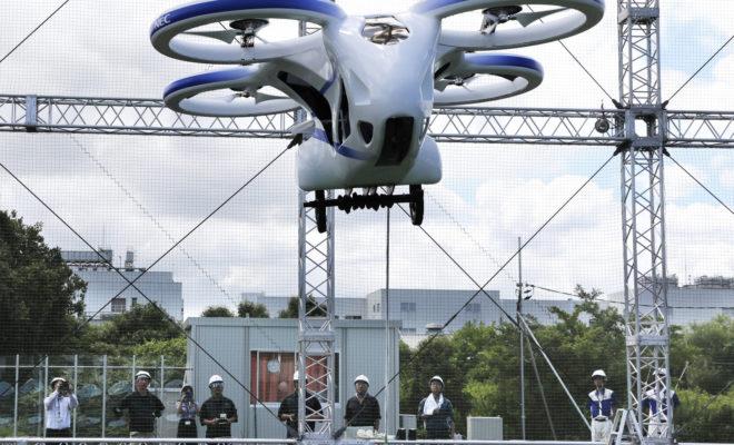 Le fabricant japonais NEC fait voler un prototype de voiture volante