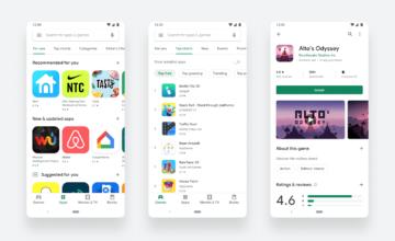 Le Google Play Store fait peau neuve !