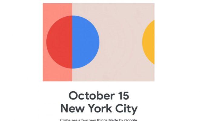 Google annonce une présentation du Pixel 4 le 15 octobre à New York