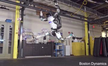 Le robot Atlas peut maintenant faire une impressionnante routine de gymnastique