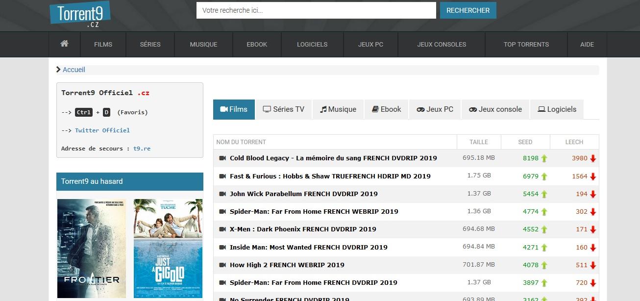 Torrent 9 meilleurs sites de torrents en français