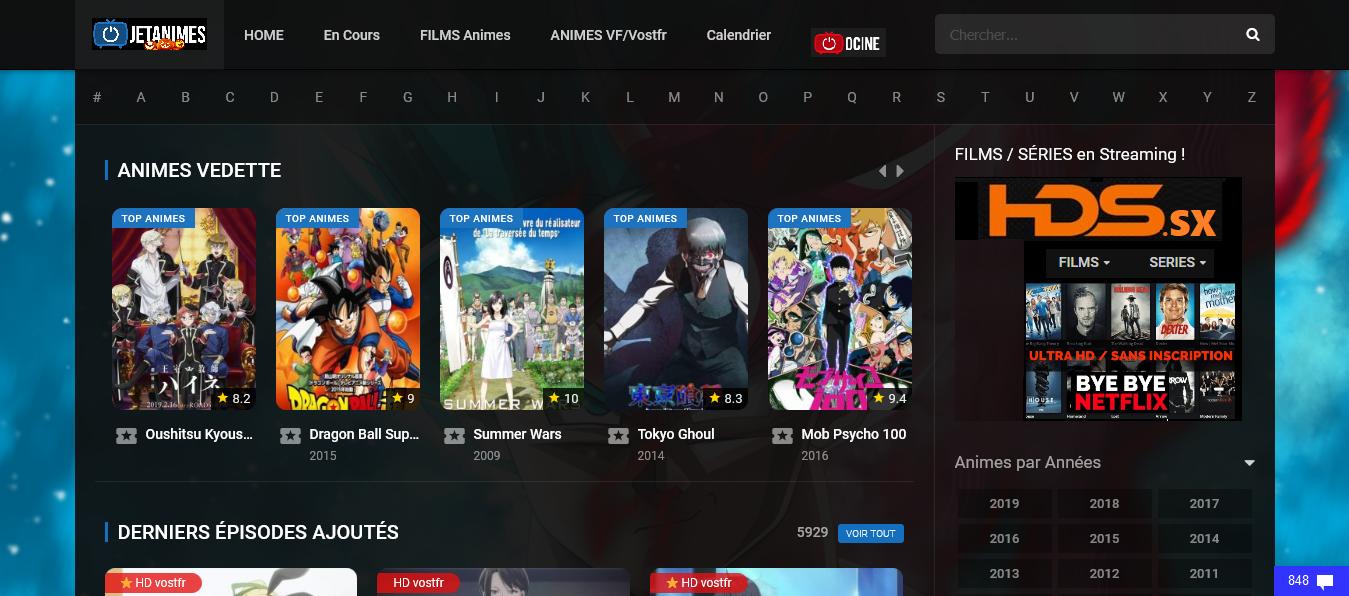 animes en streaming