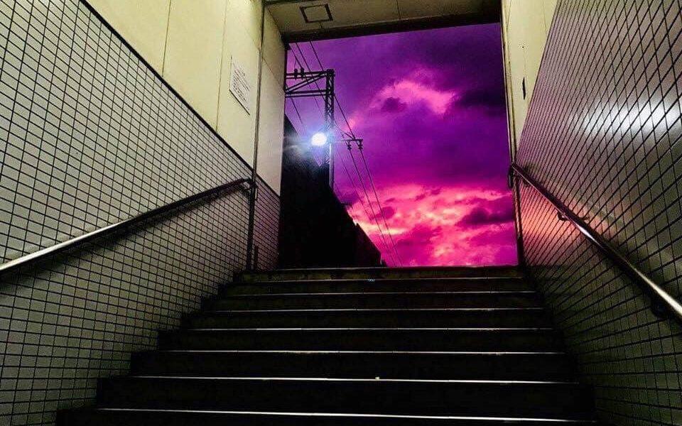 Japon : le ciel est devenu violet avant l'arrivée du typhon Hagibis
