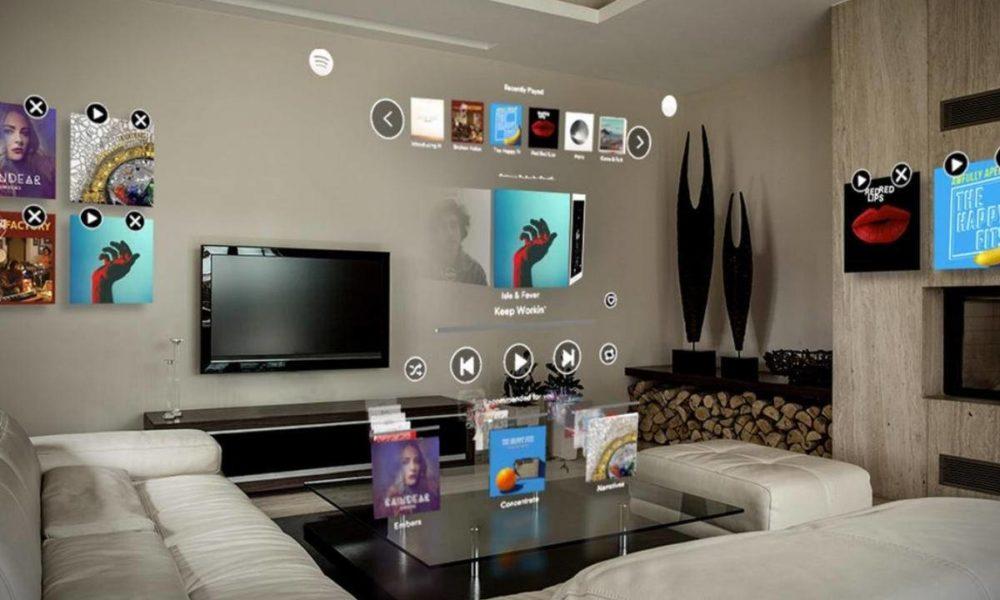 L'application Spotify de Magic Leap vous permet de créer des playlists virtuelles pour différentes pièces