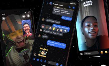 Facebook Messenger adopte les couleurs de Star Wars pour la sortie du prochain film