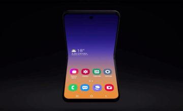 Au CES de Las Vegas, Samsung a dévoile son prochain smartphone pliable, qui s'appellera le Galaxy Bloom.