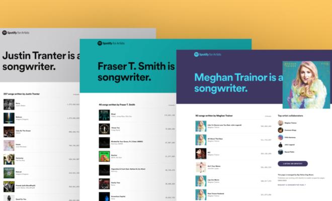 Spotify vous permet désormais de rechercher par auteur-compositeur avec des crédits cliquables