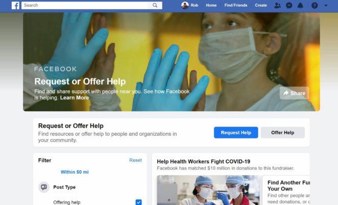 Facebook a annoncé l'activation d'un outil d'entraide pendant la crise du Covid-19