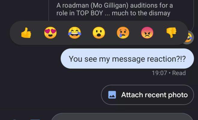 Google teste les réactions par emojis dans les messages RCS