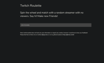 Twitch Roulette vous aide à trouver les plus petits streamers
