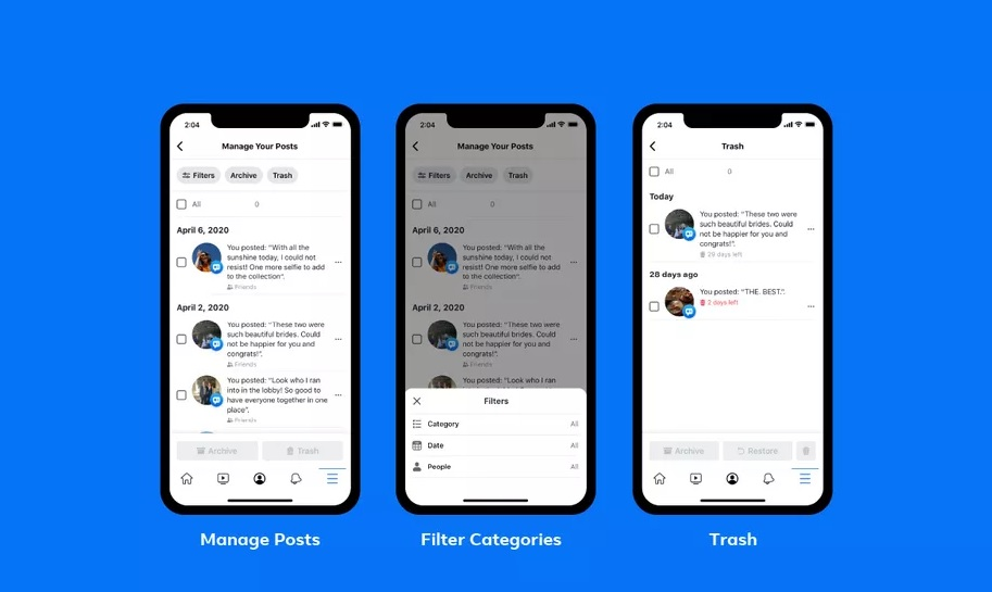 Facebook facilite la suppression en masse de vos anciens messages embarrassants