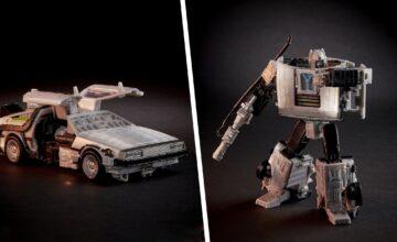 Hasbro dévoile une figurine pour le crossover entre Retour Vers le Futur et Transformers