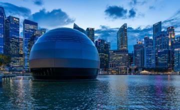 """Le premier Apple Store """"flottant"""" va bientôt ouvrir à Singapour"""
