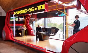 Samsung utilise un bus stationnaire pour présenter le meilleur de la 5G