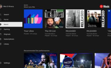YouTube Music est désormais beaucoup plus facile à utiliser sur les téléviseurs