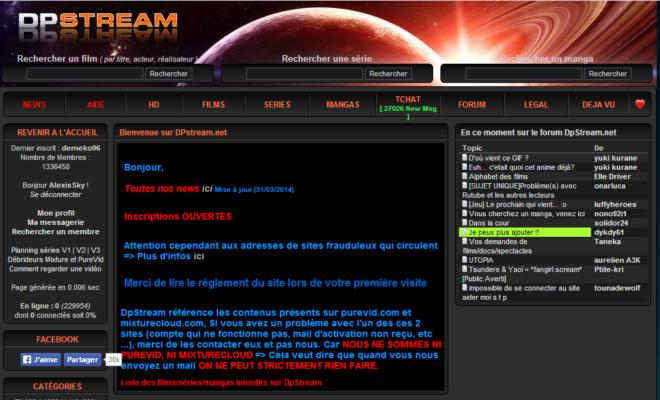 dpstream : le site de streaming fermé, attention aux clones