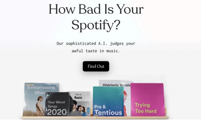 How Bad Is Your Spotify ? - Une IA critique vos goûts musicaux