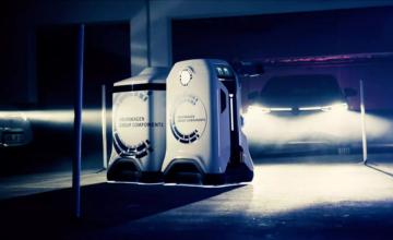 Volkswagen présente un robot capable de charger les voitures électriques