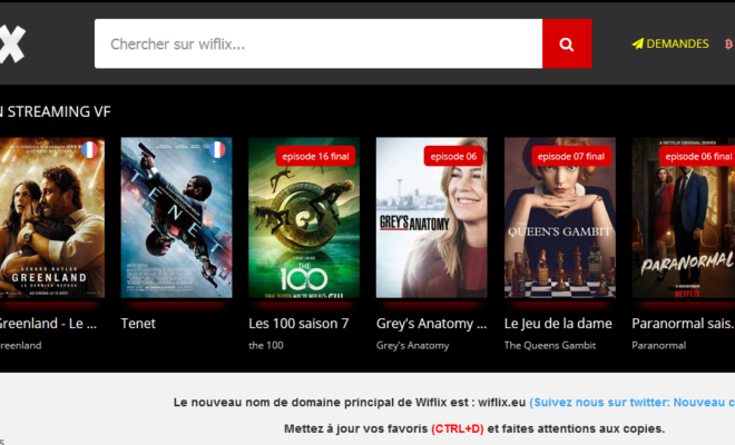 Wiflix – regarder des films et séries streaming gratuit sans inscription