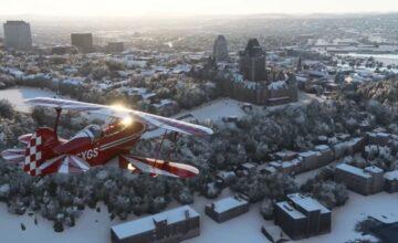 Microsoft Flight Simulator : la neige arrive dans le jeu