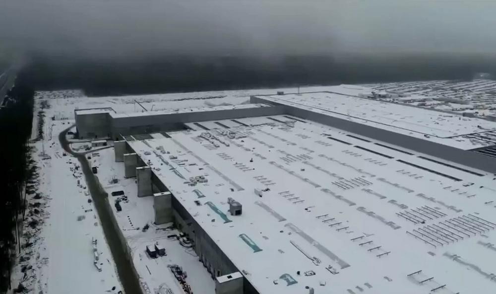 Des images de drone de la Gigafactory de Berlin publiées par Elon Musk