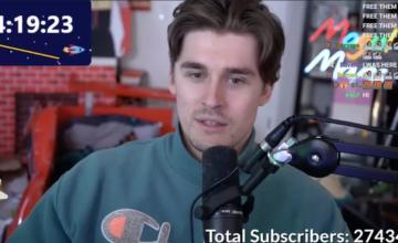 Twitch : le stream de 31 jours de Ludwig Ahgren bat le record du nombre d'abonnés en simultané