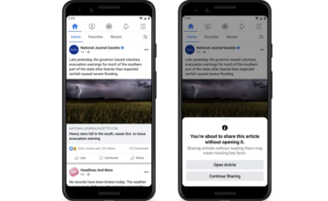 Facebook veut s'assurer que vous avez lu l'article que vous êtes sur le point de partager