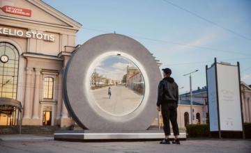 Vilnius, en Lituanie, a mis en place un «portail» vers une autre ville