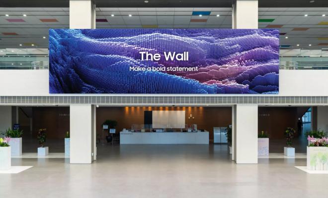 The Wall : Samsung dévoile la version 2021 de sa TV géante