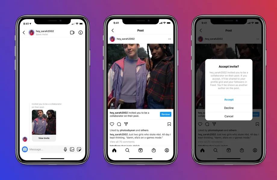 Instagram permettra aux utilisateurs de co-créer des posts et de partager des likes
